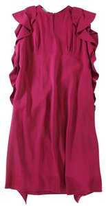 Alberta Ferretti short dress Pink / Fuchsia Waterfall on Tradesy