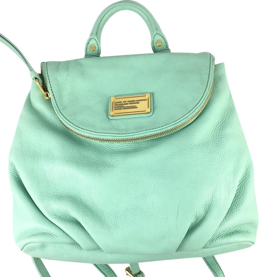 423ac8c7330 Marc by Marc Jacobs Classic Q Mariska Mint Green Leather Backpack ...