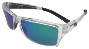 Smith Optics New SMITH OPTICS Sunglasses OUTLIER Crystal Clear Frame w/ Green Sol-X