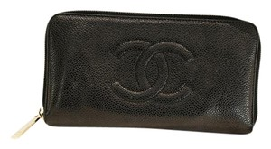 Chanel Timeless Cavair zip around wallet