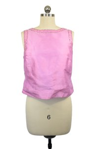 Lilly Pulitzer Sequin Crop Wedding Occassion Top Pink