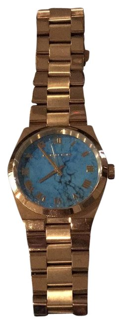 Item - Gold with Blue Face Watch