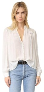 Free People Button Down Shirt White And Gold