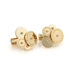 BVLGARI Bulgari Cicladi 18k Yellow Gold Cluster Disc Post Clip Earrings