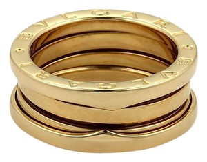 BVLGARI Bulgari B Zero-1 18k Yellow Gold 8mm Band Ring Size EU 53-US 6.25
