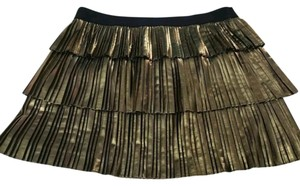 BCBGMAXAZRIA Mini Skirt Metallic Gold