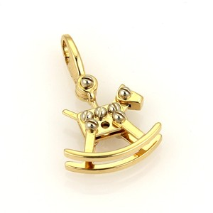 Cartier 16404 . Cartier Rocking Horse 18k Two Tone Gold Charm