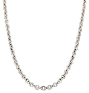 Cartier 16450 . Cartier 18k White Gold Rolo Link Chain Necklace w/Cert