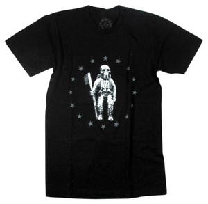 Chrome Hearts Astronaut Skull Skeleton Graphic Flag T Shirt Black