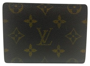 Louis Vuitton monogram canvas bifold pass case card holder