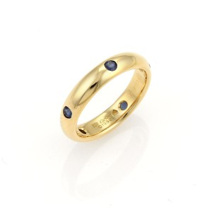 Cartier 17246 . Cartier Stella Sapphire 18k Yellow Gold 4mm Band Ring
