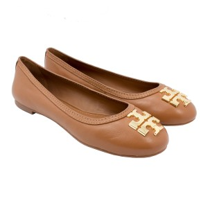 Tory Burch 34289 Laura Ballet Royal Tan/Gold Flats