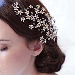 Gold Bridal Hair Comb New Flower Leaf Vine Wedding Jewelry