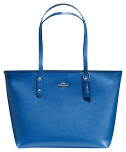 Coach Satchel 36126 36609 Tote in SILVER/LAPIS