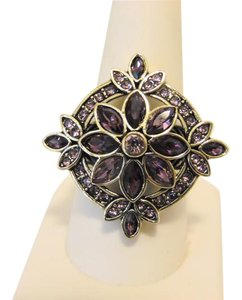 "Heidi Daus Heidi Daus ""French Twist"" Amethyst Crystal Ring size 9"