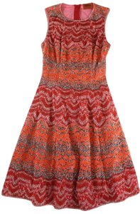 Missoni short dress Orange Crochet Fit & Flare Chevron on Tradesy