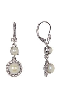 Marchesa NWT Pearl and Crystal Earrings