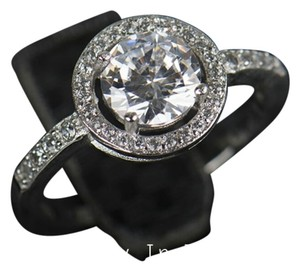 4 CTW round halo Simulated diamond engagement ting