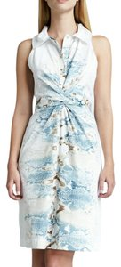 Elie Tahari short dress Sleeveless Button-front Belted on Tradesy