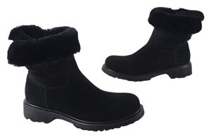La Canadienne Suede Shearling Ankle Canada black Boots
