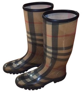Burberry Checked Boots