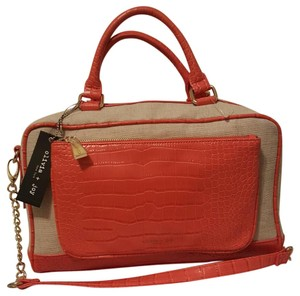 Olivia + Joy And Totes Satchel in Linen / Tangerine