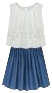 Other short dress white top and blue linen skirt on Tradesy