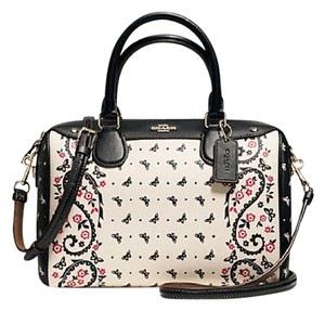 Coach F36689 Bennett Crossbody 36702 Satchel in GOLD/CHALK/BRIGHT PINK