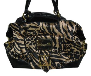 Betseyville Satchel in black brown,gold