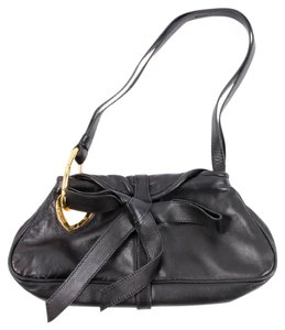 Moschino Bow Leather Heart Shoulder Bag
