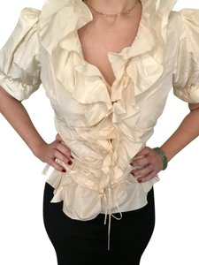 Katerina Bocci Designs Wedding Detail Top Cream
