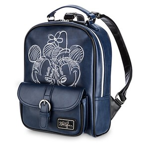 Disney Boutique Navy Leather Black Kids Backpack