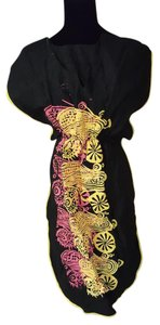Other short dress Black and yellow African Centric Handmade Locallymade Nigerian on Tradesy