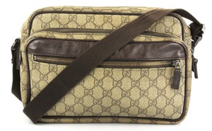 Gucci Coated Canvas Brown Messenger Bag