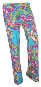 Lilly Pulitzer Relaxed Pants SUMMER HAZE HTF turqouise, pinks orange greens all bright and bold