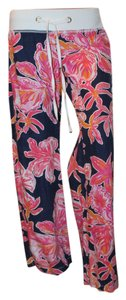 Lilly Pulitzer Relaxed Pants bright navy and pink