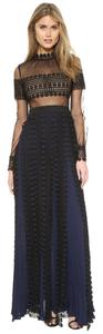 self-portrait Maxi Lace Panel Dress