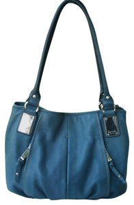 Tignanello Leather Carryall Pocket Tote in Blue