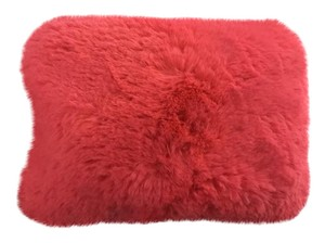 Forever 21 Brand new hot pink fur cosmetic / makeup bag