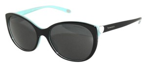 Chanel TIFFANY & Co. TF4086-H Black Azure Blue Cat Eye Oval Sunglasses