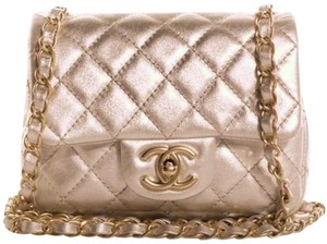 Chanel Classic Flap Mini Lambskin Cc Logo Shoulder Bag