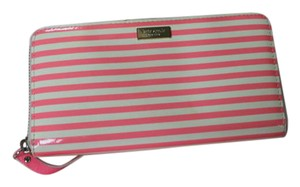 Kate Spade Wristlet in pink and white stripe