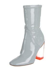 Dior Gray Patent Lucite Boots