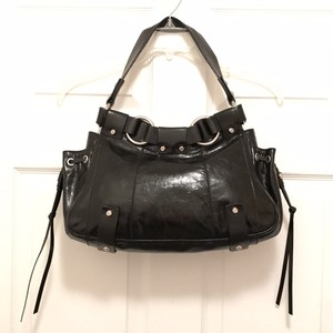 Francesco Biasia Leather Boho Tote Distressed Shoulder Bag