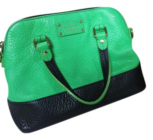 Kate Spade Satchel in navy and green