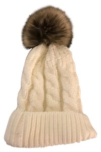 Other New knit fur ball beanie