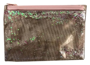Other Clear baby pink and blue glitter gel cosmetic/ makeup bag