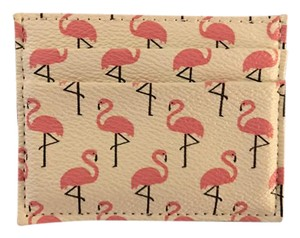 Forever 21 Pink and white flamingo card holder / wallet