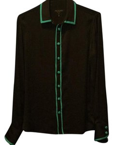 Rag & Bone Button Down Shirt black