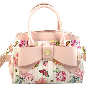 Betsey Johnson Satchel in pink floral